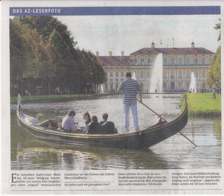 Abendzeitung München – Leserfoto – Gondoliere von Schleißheim