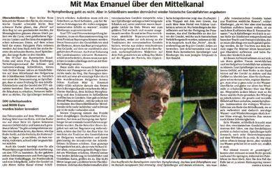 Süddeutsche Zeitung – Mit Max Emanuel über den Mittelkanal