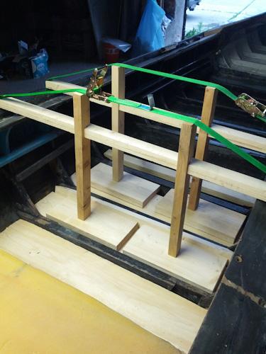 Reparatur des Plankenbruchs