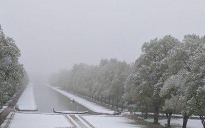 Gondeln im Schnee
