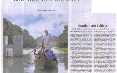 Süddeutsche Zeitung – Gondeln am Schloss – 5-jähriges Jubiläum