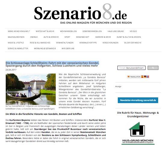 Szenario8.de: Schlossanlage Schleißheim: venezianische Gondel