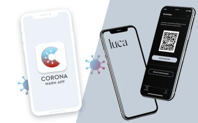 Registrierung mit Corona Warn App oder luca-App