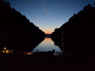 Sonnenuntergang im Hofgarten Schleißheim
