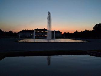 Neues Schloss Schleißheim im Sonnenuntergang