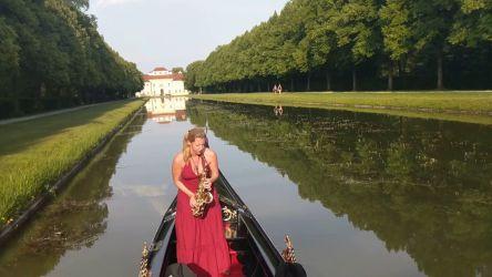 La Gondola Barocca SaxoCat Saxophon Auf Der Gondel