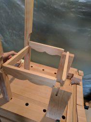 Gondelstühle - erste Stellprobe