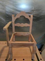 """Gondelstühle - der Rohbau ist komplett - zunächst """"trocken"""" zusammengefügt"""