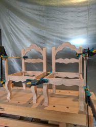 Gondelstühle - die Stühle sind verleimt