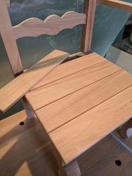 Gondelstühle - Stellprobe für die Sitzfläche - Fräsungen schon erfolgt