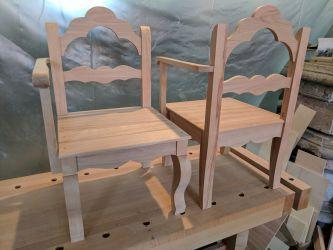 Gondelstühle - fertig montiert